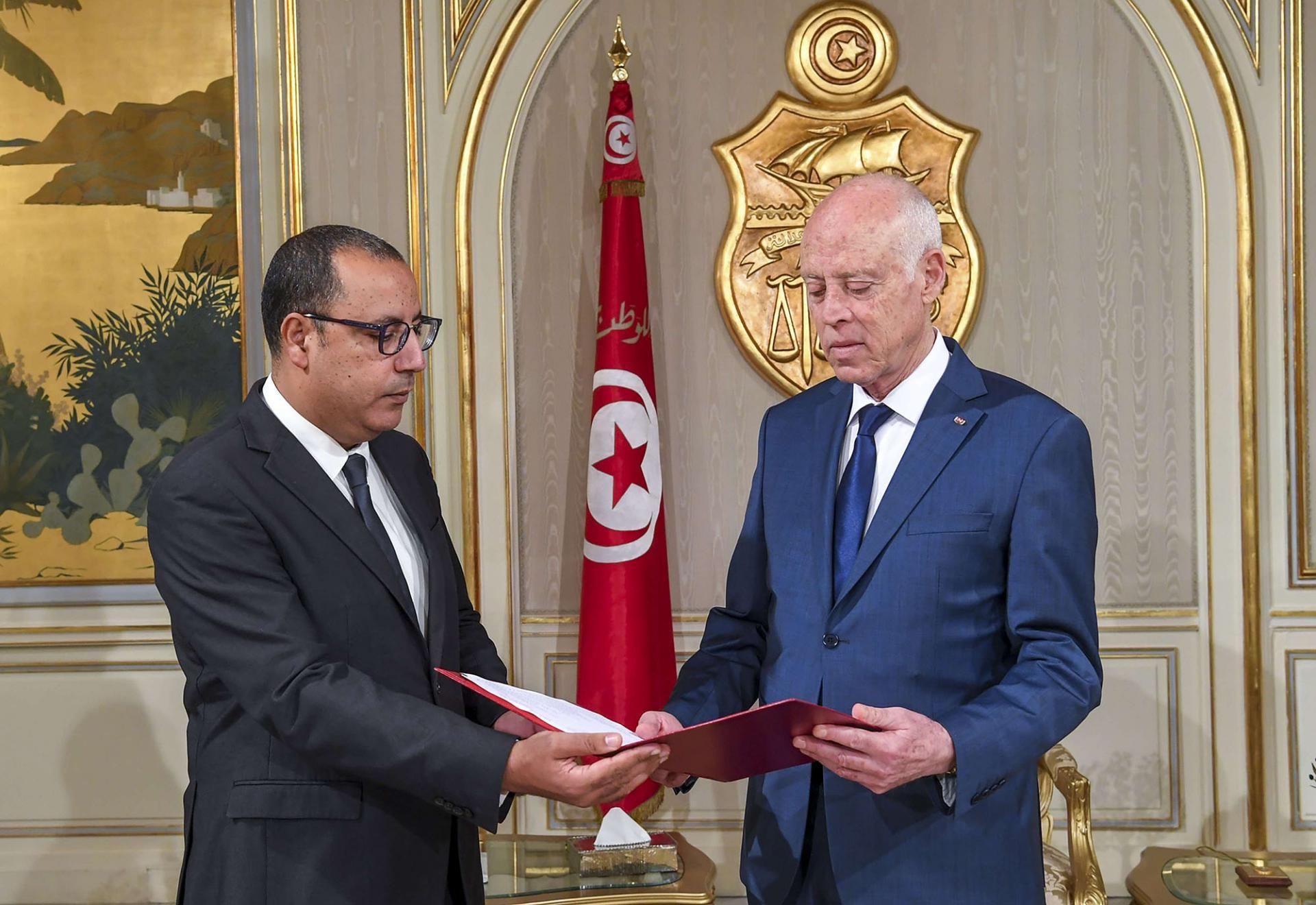 هشام المشيشي قيس سعيد